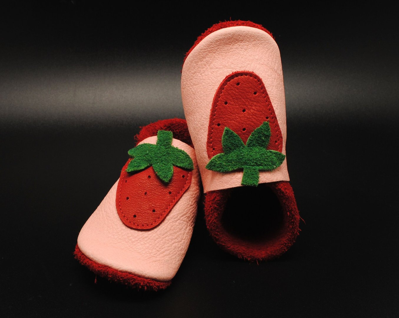 Baby shoes Babybooties Strawberry for sale Safinio